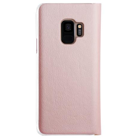 Husa book Samsung Galaxy S9, CTK Roz gold