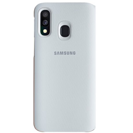 Husa Flip Wallet Cover Samsung pentru Samsung Galaxy A40 White