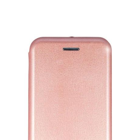 Husa book satinat Huawei Y6 2018, Contakt Roz