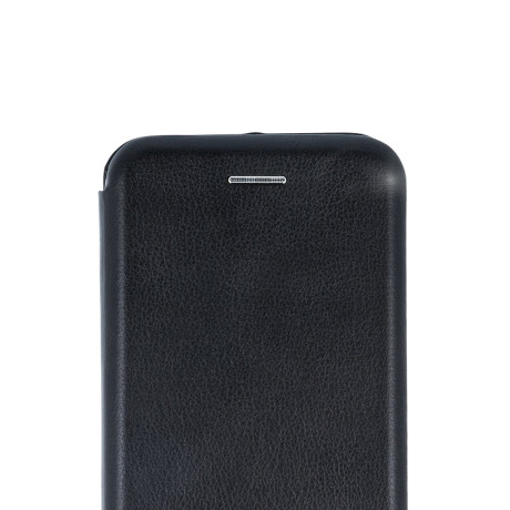 Husa book satinat iPhone X, Contakt Neagra