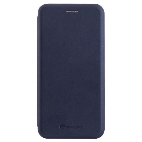Husa book satinat Samsung Galaxy A6 2018, Contakt Albastra