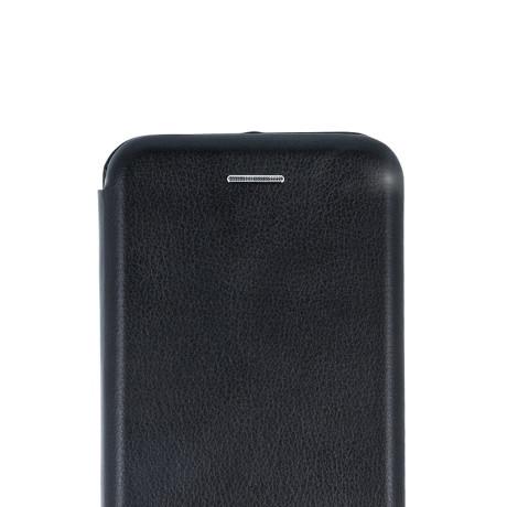 Husa book satinat Samsung Galaxy A6 2018, Contakt Neagra