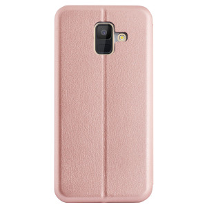 Husa book satinat Samsung Galaxy A6 2018, Contakt Roz