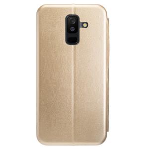 Husa Book Satinat Samsung Galaxy A6 Plus 2018, Auriu