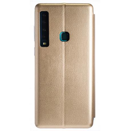 Husa Book Satinat Samsung Galaxy A9 2018, Auriu OC
