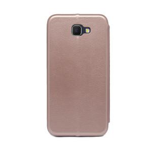 Husa book satinat Samsung Galaxy J5 Prime, Contakt Roz Gold