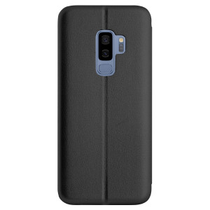 Husa book satinat Samsung Galaxy S9 Plus, Contakt Neagra