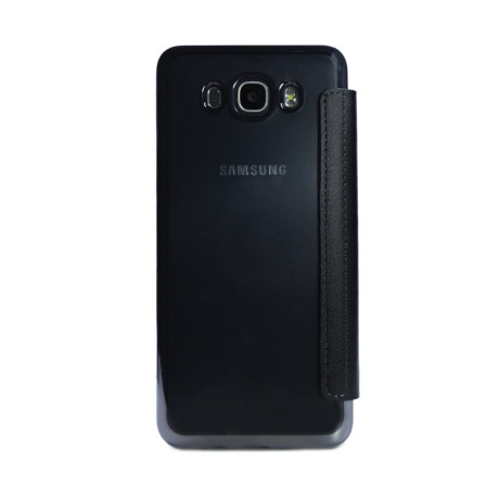 Husa book silicon Samsung Galaxy J7 2016, Contakt Neagra