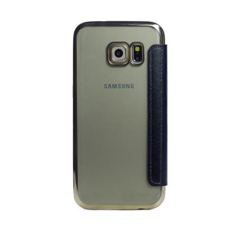 Husa book silicon Samsung Galaxy S7 Auriu