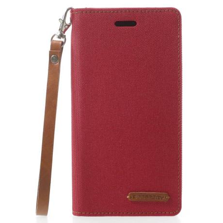 Husa Canvas iPhone X/Xs Stand Wallet Goospery Rosie