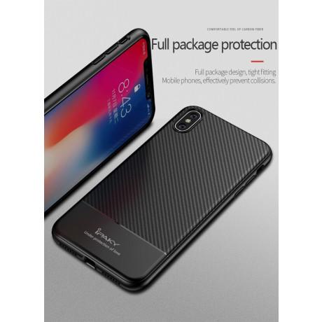 Husa Carbon Fiber iPhone XR, Ipaky Neagra