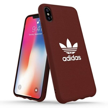 Husa Cover Adidas Moulded Canvas pentru iPhone Xs Max Red