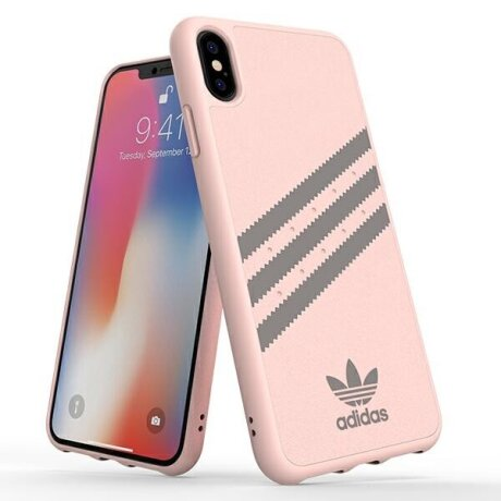 Husa Cover Adidas OR Moulded Suede pentru iPhone Xs Max Pink-Grey