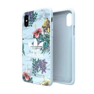 Husa Cover Adidas OR Snap Floral pentru iPhone X/XS Grey-Mint