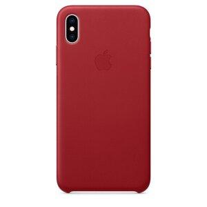 Husa Cover Apple Leather pentru iPhone XS Red
