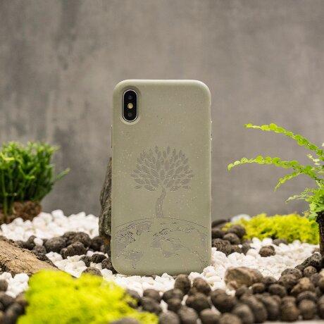 Husa Cover Biodegradabile Forever Bioio Tree pentru iPhone X/XS Verde