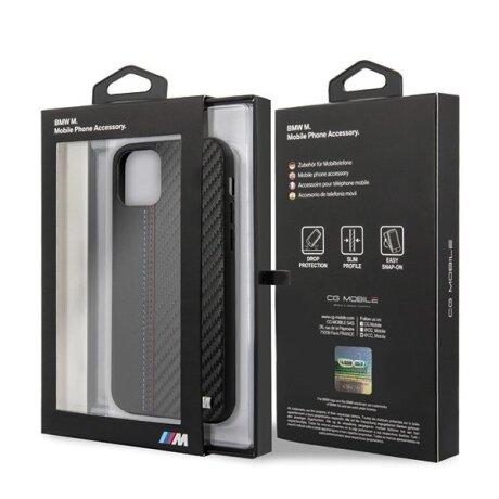 Husa Cover BMW Carbon pentru iPhone 11 Black