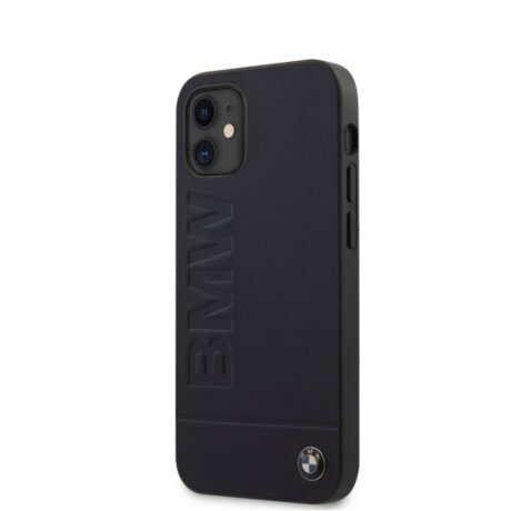 Husa Cover BMW Leather Hot Stamp pentru iPhone 12 Mini Navy