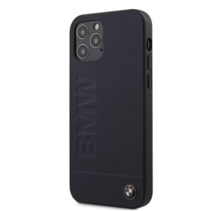 Husa Cover BMW Leather Hot Stamp pentru iPhone 12/12 Pro Navy