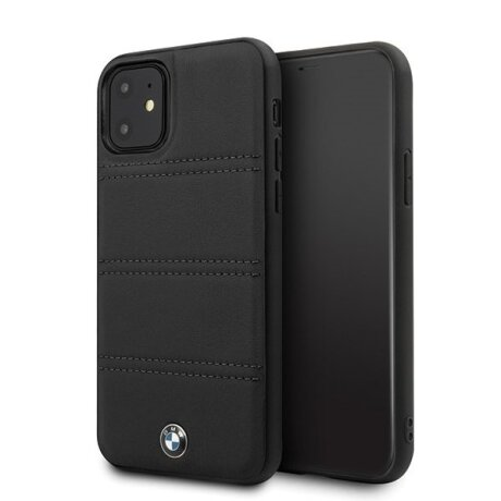 Husa Cover BMW Leather Signature Horizontal pentru iPhone 11 Black