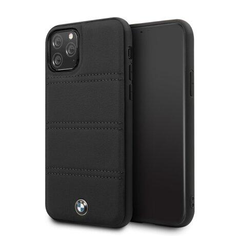 Husa Cover BMW Leather Signature Horizontal pentru iPhone 11 Pro BMHCN58PELBK Negru