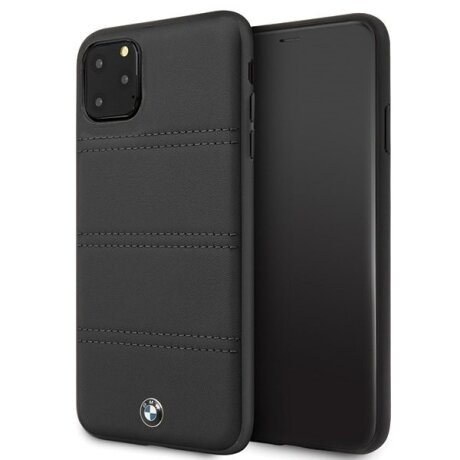 Husa Cover BMW Leather Signature Horizontal pentru iPhone 11 Pro Max Black