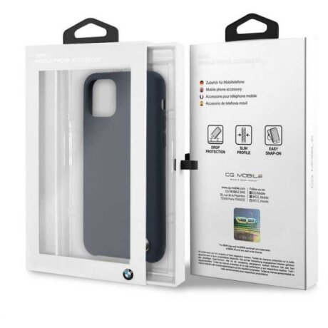 Husa Cover BMW Silicone Kryt pentru iPhone 11 Blue