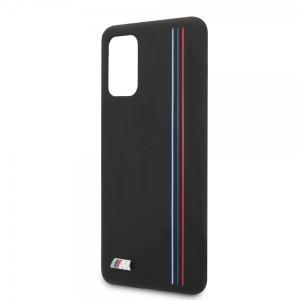 Husa Cover BMW Silicone Stripes M Collection pentru Samsung Galaxy S20 Plus Neagra