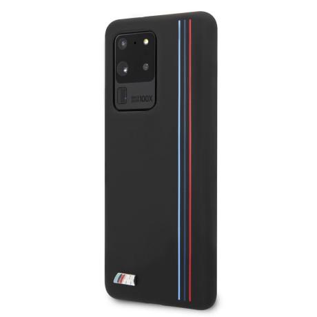 Husa Cover BMW Silicone Stripes M Collection pentru Samsung Galaxy S20 Ultra Neagra