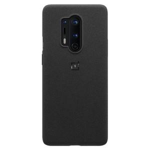 Husa Cover Bumper Sandstone pentru OnePlus 8 Pro, Negru
