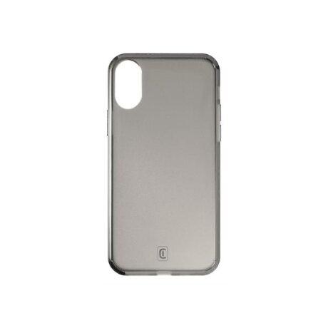 Husa Cover Cellularline Hard Antimicrobial pentru iPhone X/XS Fumuriu