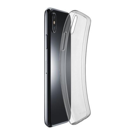Husa Cover Cellularline Silicon slim pentru iPhone XS Max Transparent