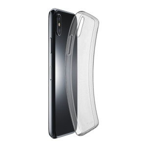 Husa Cover Cellularline Silicon slim pentru iPhone X/XS Transparent