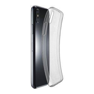 Husa Cover Cellularline Silicon slim pentru iPhone X/XS Transparent