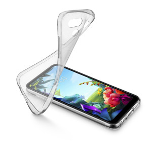 Husa Cover Cellularline Silicon slim pentru LG K40 Transparent