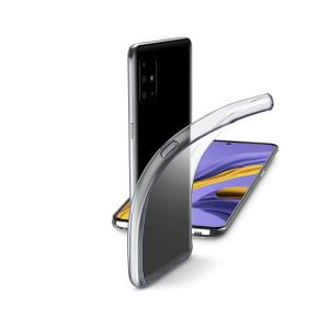 Husa Cover Cellularline Silicon slim pentru Samsung Galaxy A51 Transparent