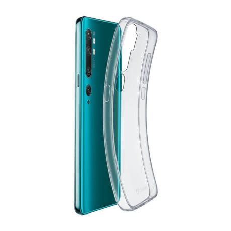 Husa Cover Cellularline Silicon slim  Xiaomi Mi Note 10 Transparent