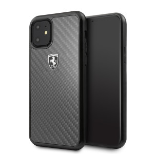 Husa Cover Ferrari Heritage Carbon pentru iPhone 11 Negru