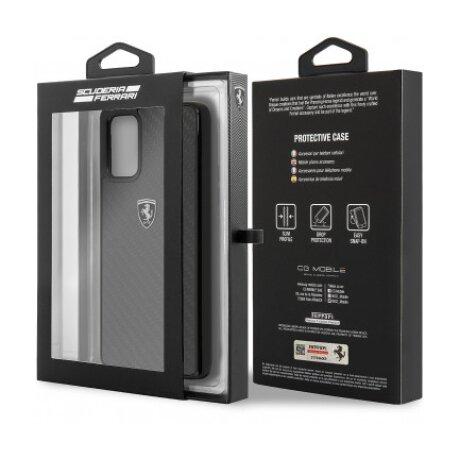 Husa Cover Ferrari Heritage Carbon pentru iPhone 11 Pro  Negru