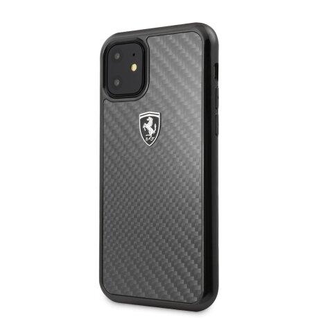 Husa Cover Ferrari Heritage Carbon pentru iPhone 11 Pro Max Negru