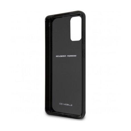 Husa Cover Ferrari Heritage Carbon pentru Samsung Galaxy S20 Plus Black