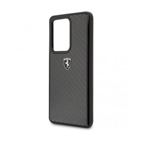 Husa Cover Ferrari Heritage Carbon pentru Samsung Galaxy S20 Ultra FEHCAHCS69BK Black