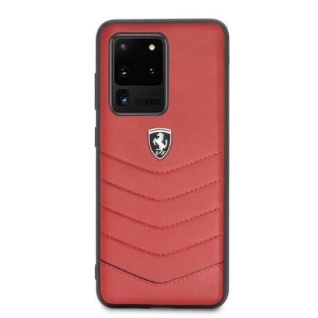 Husa Cover Ferrari Heritage Quilted pentru Samsung Galaxy S20 Ultra FEHQUHCS69RE Rosu
