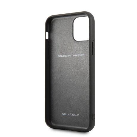 Husa Cover Ferrari Off Track Grained pentru iPhone 11 Negru