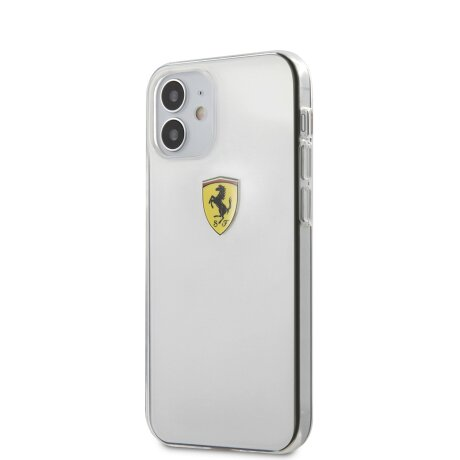 Husa Cover Ferrari On Track Logo pentru iPhone 12 Mini Transparent
