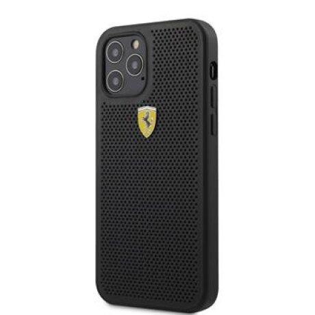 Husa Cover Ferrari On Track Perforated pentru iPhone 12/12 Pro Black