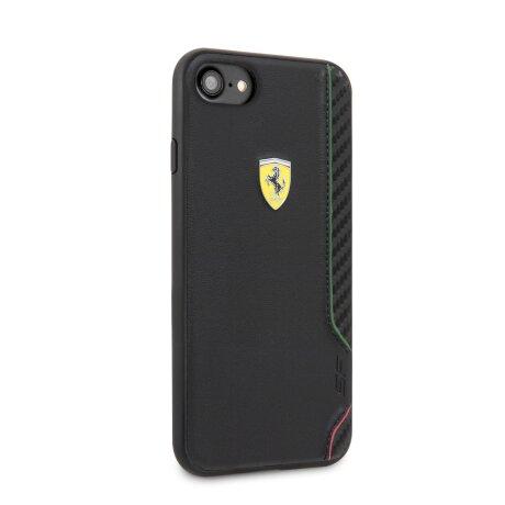 Husa Cover Ferrari On Track Rubber Soft pentru iPhone 7/8/SE2 Negru