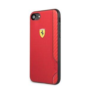 Husa Cover Ferrari On Track Rubber Soft pentru iPhone 7/8/SE2 Rosu