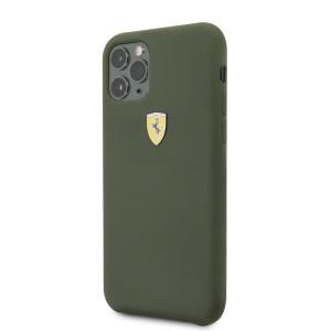 Husa Cover Ferrari SF Logo pentru iPhone 11 Pro Max Verde