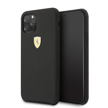 Husa Cover Ferrari SF Silicone pentru iPhone 11 Pro Negru